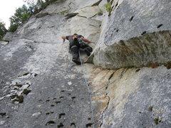 Rock Climbing Photo: The 11a traverse on the AK Highway.