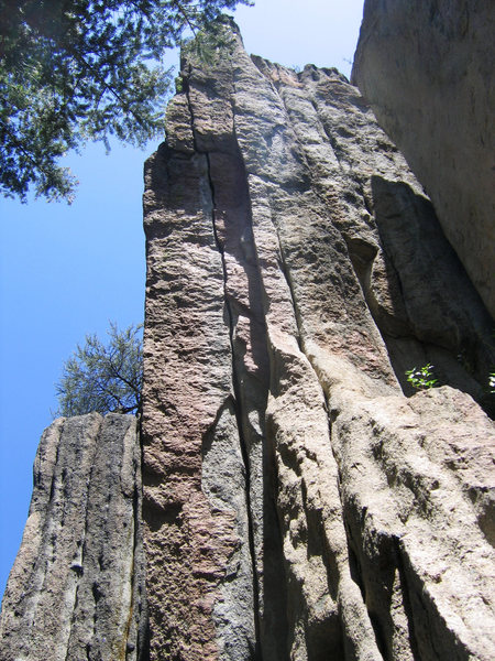 Rock Climbing Photo: Looking up at Tat Tvam Asi