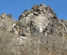 Rock Climbing Photo: View from gravel road at the base of the area.