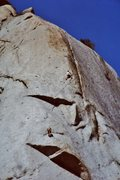 Rock Climbing Photo: The bolt belay on top of pitch 2 - near the prow. ...
