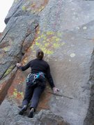 Rock Climbing Photo: Awkward start. Once you have clipped the first bol...