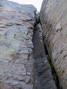 Rock Climbing Photo: Not nearly as bad as it looks and the inside crack...