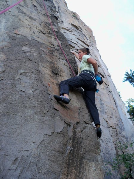 The moves are pleasant even for the height-challenged climbers