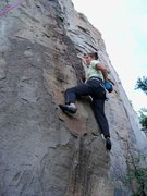 Rock Climbing Photo: The moves are pleasant even for the height-challen...