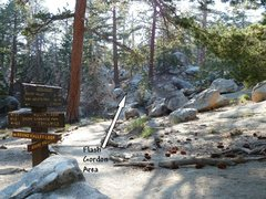Rock Climbing Photo: The trail junction for the Flash Gordon Area, Tram...