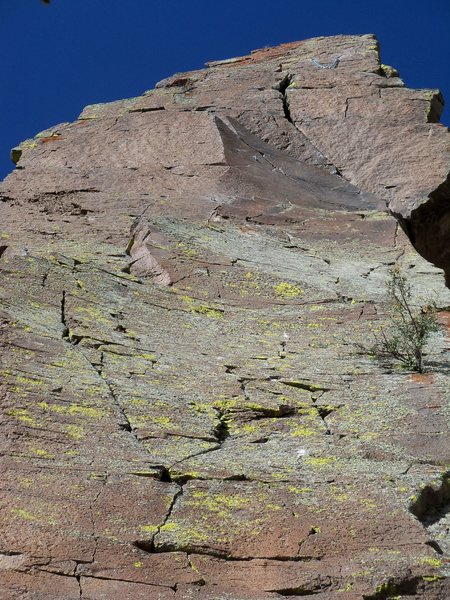 Rock Climbing Photo: The anchor is at the top of the north side of this...
