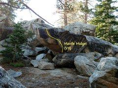 Rock Climbing Photo: Mantle Midget (V3), Tramway