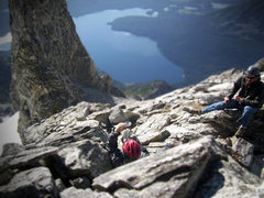 Rock Climbing Photo: Drizzlepus before the drizzle. Mt Moran.