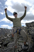 Rock Climbing Photo: On top of Sharktooth