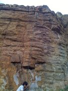 Rock Climbing Photo: Classic rock and rope pic. Chunk precisely follows...