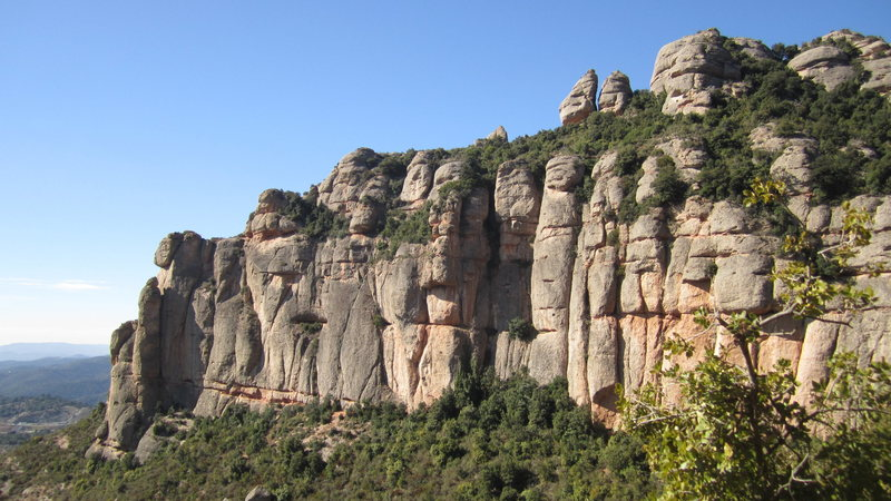 Rock Climbing Photo: catalonian conglomerate