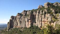 Rock Climbing Photo: catalonian conglomerate