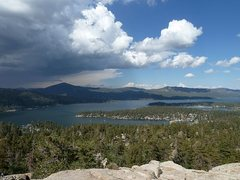 Rock Climbing Photo: Big Bear Lake from the top of Castle Rock, Big Bea...