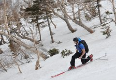 Rock Climbing Photo: Backcountry Skiing in Japan
