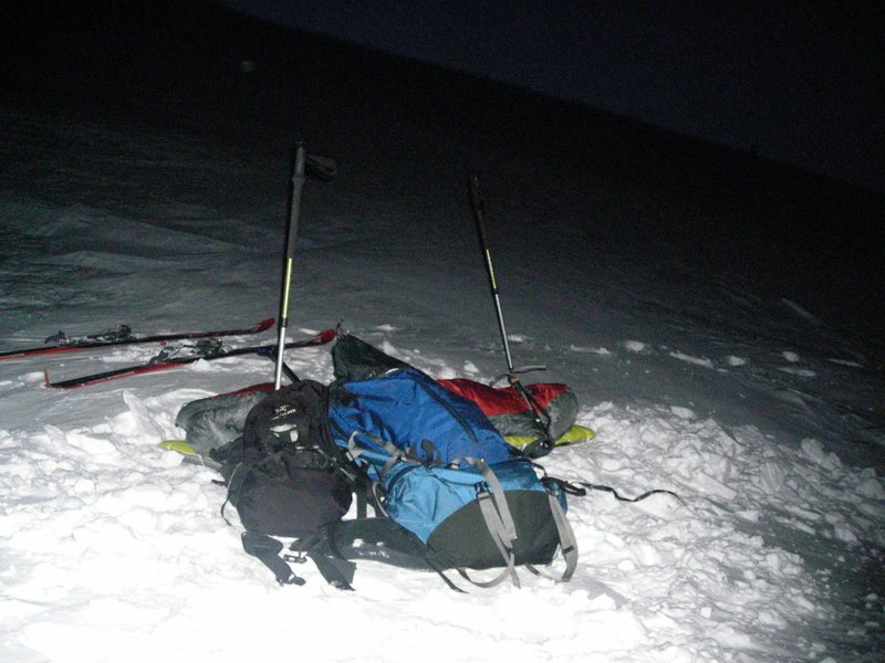 A night spent skiing on Mt Fuji