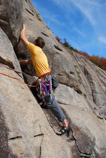 Rock Climbing Photo: Will Byrom starting pitch 3 2009.