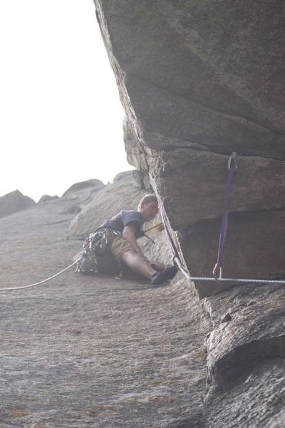 Up the dihedral on pitch 1