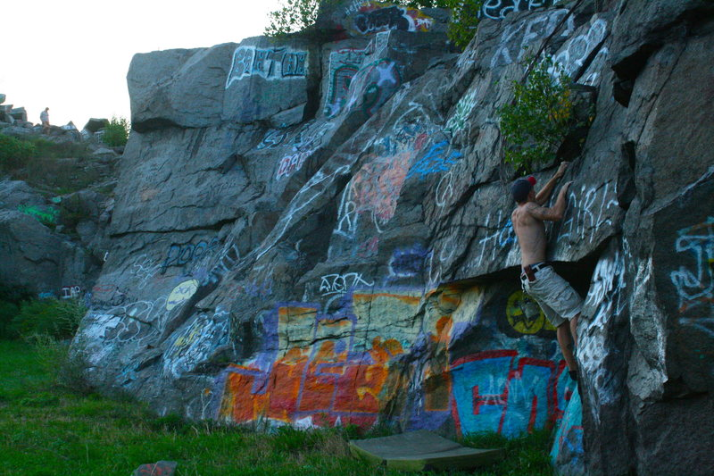 Bouldering at The Quarries.