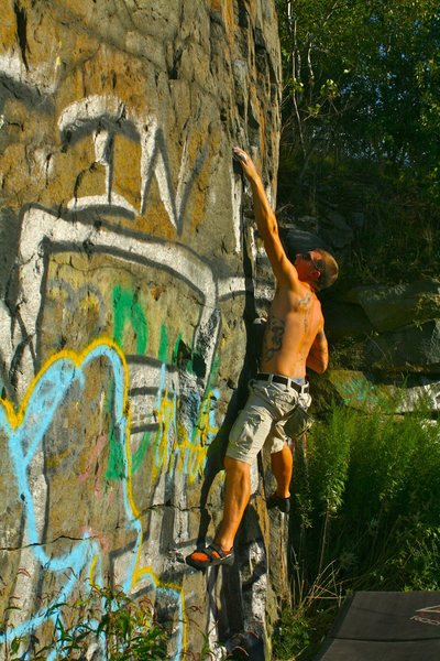 Bouldering on the O Wall.