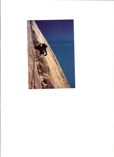 Bruce Burgess leading on 2nd ascent of Use it or Luge it 1988!