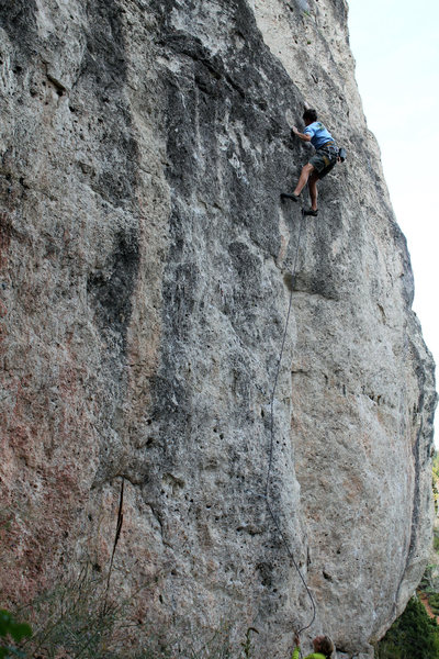 Rock Climbing Photo: Stayner nearing the top of the difficulties on Tra...