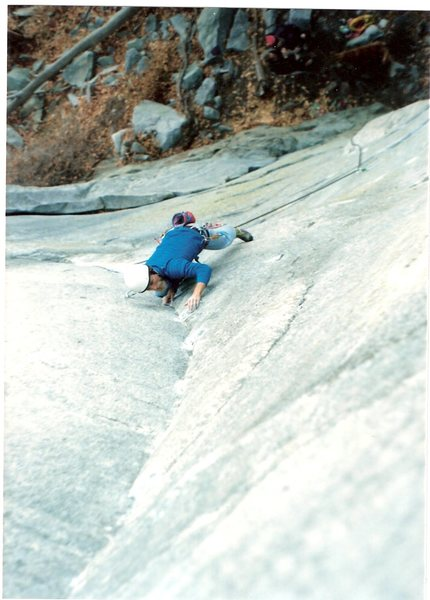 Rock Climbing Photo: Kris Kline early on The Waste not , Want not at Lo...