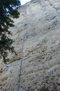 Rock Climbing Photo: The blue rope is hanging on the Second Bradyism.  ...
