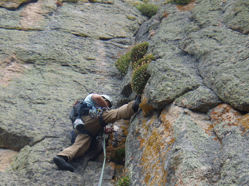 Bill Duncan - new routing on Zappa's tooth above Allens Park Colorado.  August 2011.