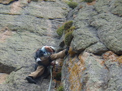 Rock Climbing Photo: Bill Duncan - new routing on Zappa's tooth above A...