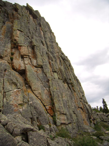 New routing on the Zappa's tooth formation above Allens Park Colorado.  August 2011.