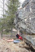 Rock Climbing Photo: Jared LaVacque on Alien Intercourse V3, Anchor Poi...