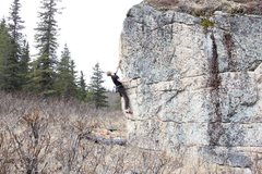 Rock Climbing Photo: Jared LaVacque on Anchor Point Arete V3, Anchor Po...