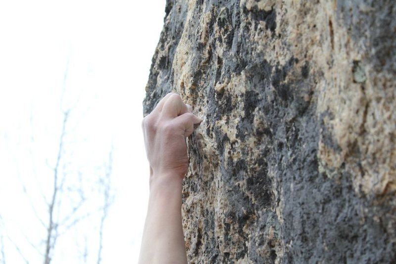 Crux Hold on Moth to a Flame V9