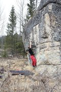 Rock Climbing Photo: Jared LaVacque on Moth to a Flame V9