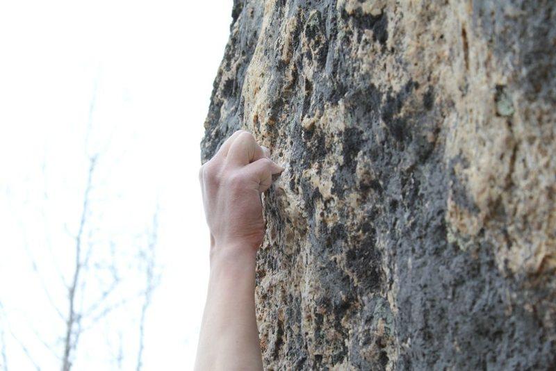 Rock Climbing Photo: The Crux Hold