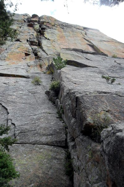 Looking up Chickenhead (5.8).