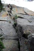 Rock Climbing Photo: Looking up Chickenhead (5.8).