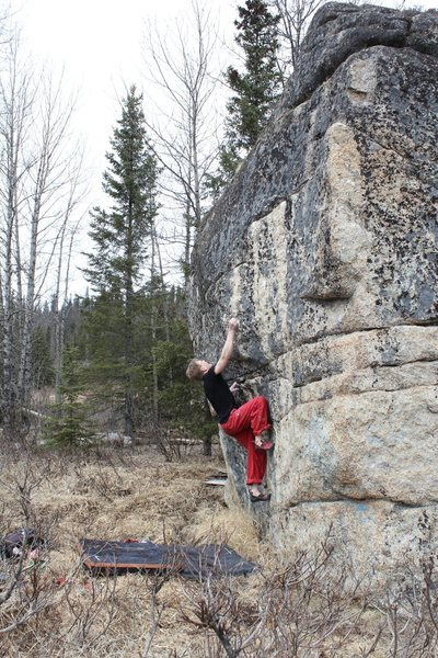 Rock Climbing Photo: Jared LaVacque on Moth to a Flame V8