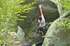Rock Climbing Photo: entrance arete v1