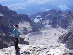 On the summit of Mount Ownen, Grand Teton National Forest. <br />