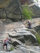 Gunks Climbing with Chrissie.