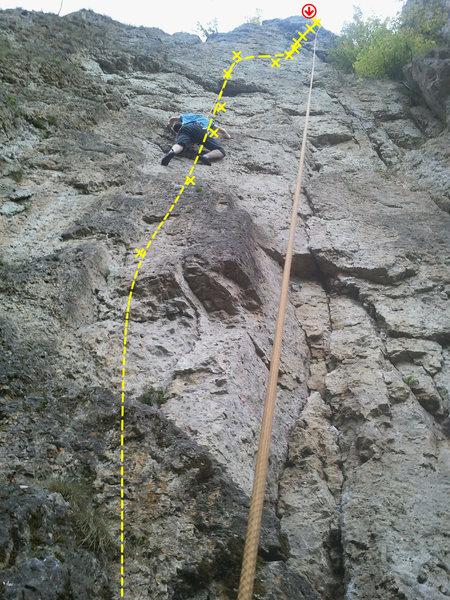 Rock Climbing Photo: Barney climbing Schaumschläger.