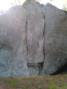Rock Climbing Photo: Flash it is the left most crack of the two on this...