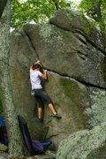 Rock Climbing Photo: platex crack