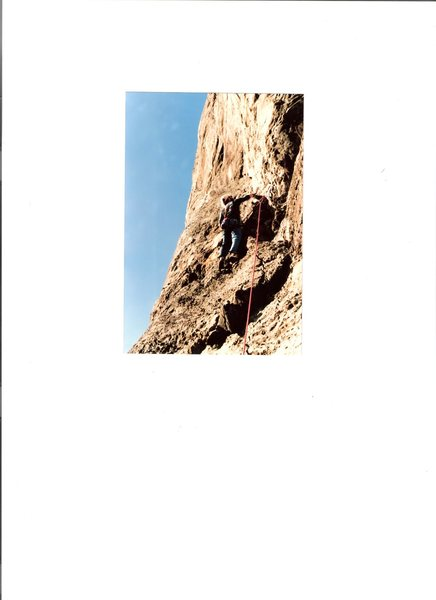 Rock Climbing Photo: Eddie during the first of Insufficient Firepower d...