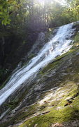 Rock Climbing Photo: nearing top of the 1,000 foot cascading falls