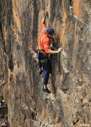 Rock Climbing Photo: Alex does some fun moves before the high step. Nes...