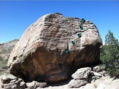 Rock Climbing Photo: Beta shot for Top Gun Worrisome.