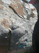 Rock Climbing Photo: Mickey Finn from another angle.  Glare highlights ...