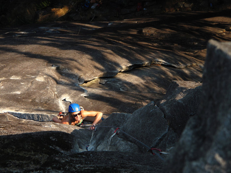 Rock Climbing Photo: Allie seconding the first pitch of Princely Ambiti...